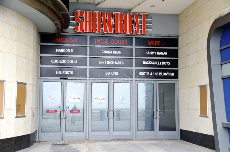 Failliet Showboat-Casino in Atlantic City stock afbeelding