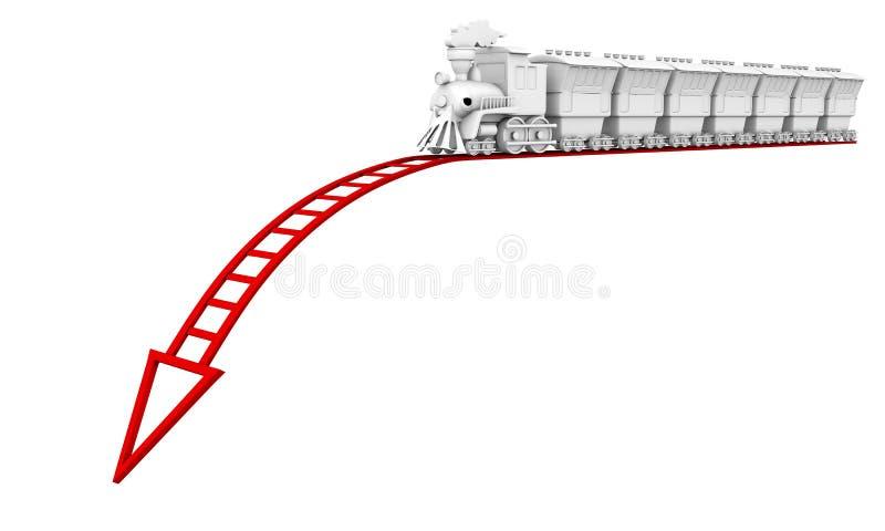 Faillite commerciale rouge illustration stock