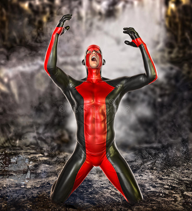 Free Failure Concept Superhero Stock Photography - 46595382