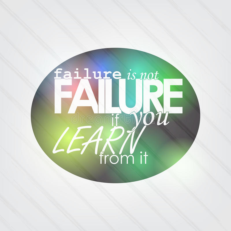 Failure is not failure royalty free illustration
