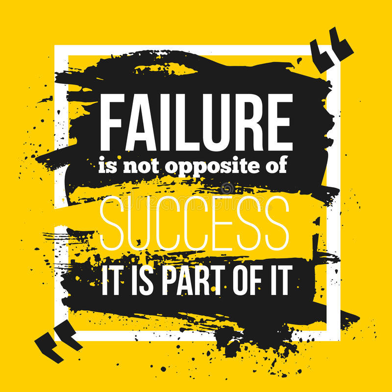 Inspirational Quotes About Failure: Failure Is A Part Of Success. Stock Vector