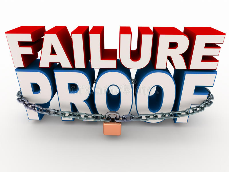 Failure proof royalty free illustration