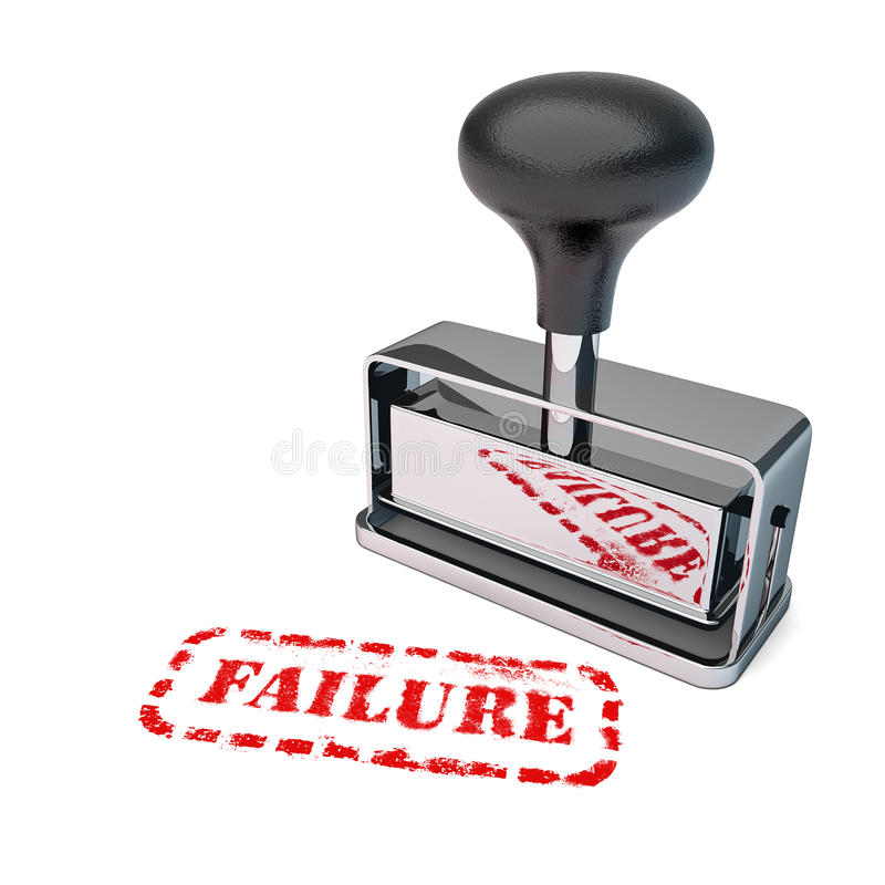 Failure Rubber Stamp royalty free illustration