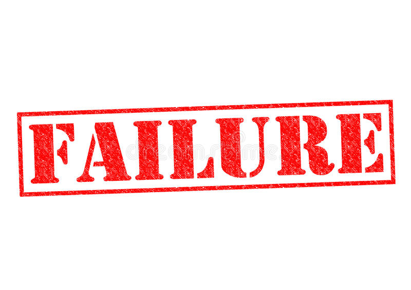 FAILURE. Rubber Stamp over a white background stock illustration
