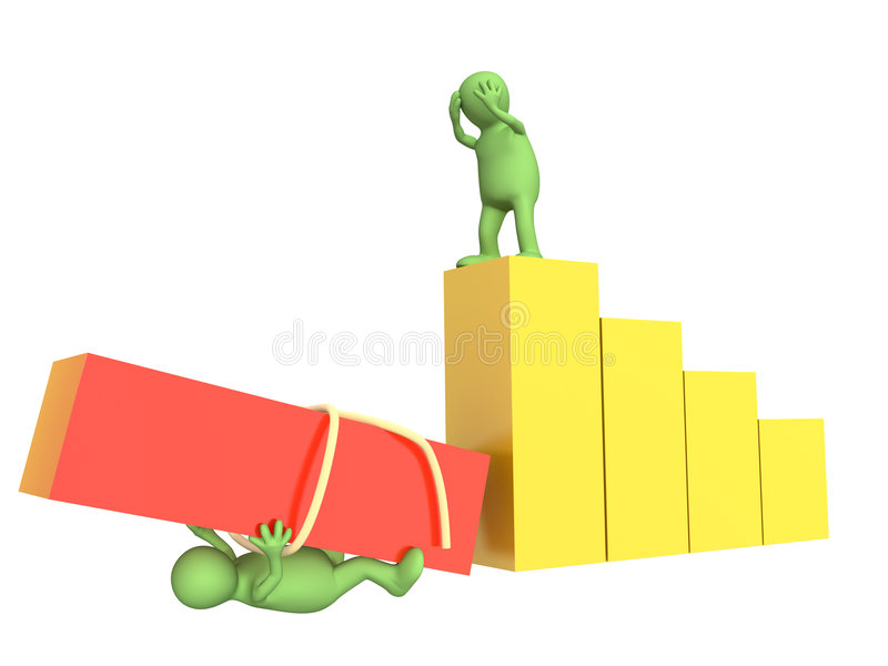 Failure in work of partners. Conceptual image - failure in work of partners stock illustration