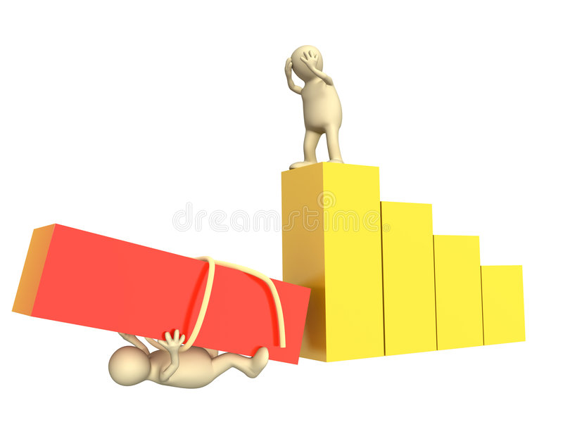 Failure in work of partners. Conceptual image - failure in work of partners vector illustration