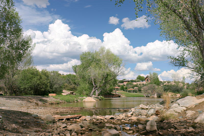 Fain lago in Prescott Valley, Arizona fotografia stock libera da diritti