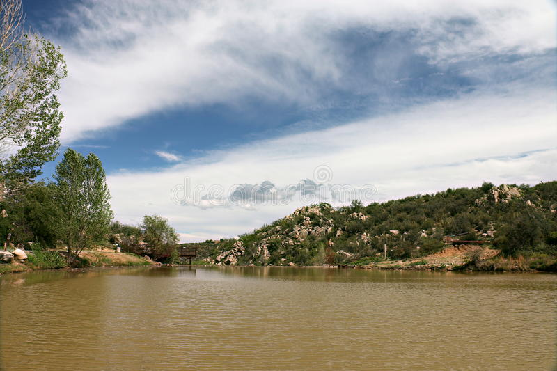 Fain Lake in Prescott Valley, Arizona stock photo