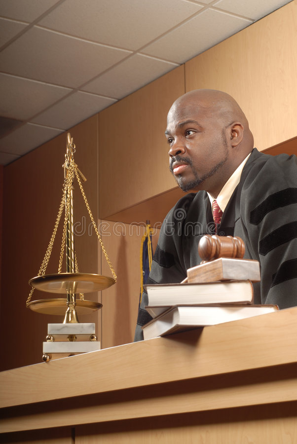 Fair and attentive judge royalty free stock images