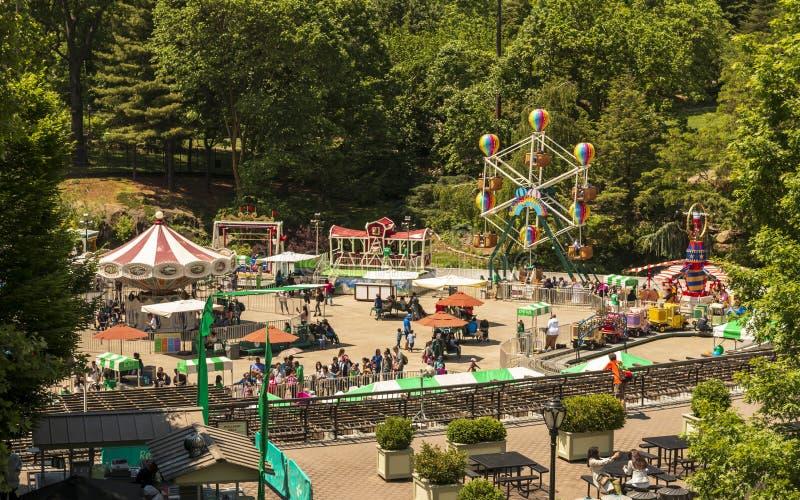 Fair at Central Park, New York City, Manhattan, Förenta staterna, Nordamerika arkivbilder