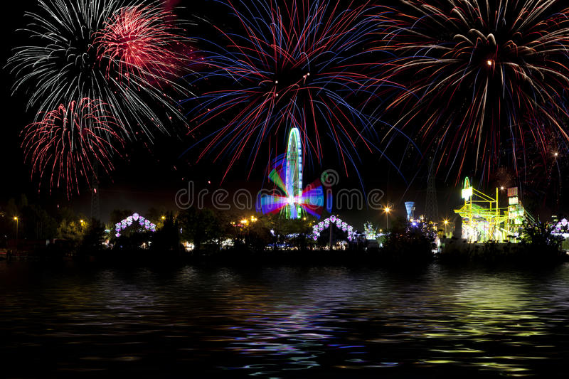 Download Fair and fireworks stock photo. Image of celebration - 21043802