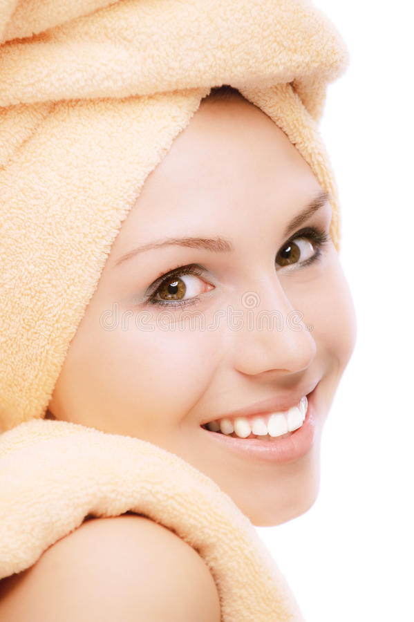 Download Fair Girl After Bath Acceptance Stock Image - Image of fitness, happy: 14535083