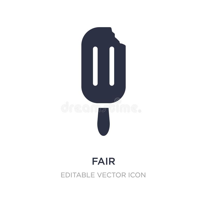 fair icon on white background. Simple element illustration from Food concept vector illustration