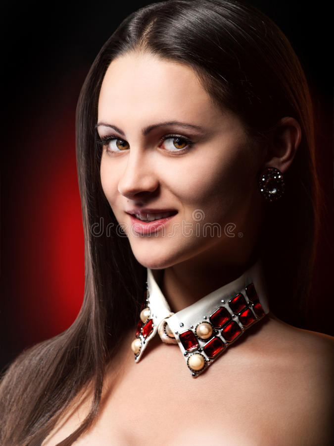 Download Fair Lady with a sly look stock image. Image of woman - 26499513