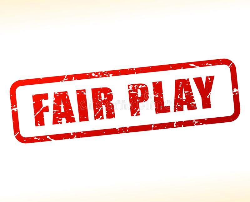 Fair play red text stamp royalty free illustration