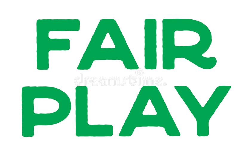 Fair Play stamp typ royalty free illustration