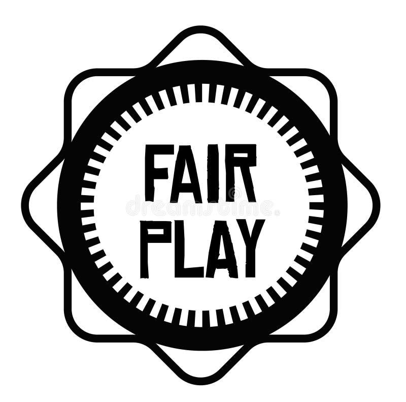 FAIR PLAY stamp on white stock illustration