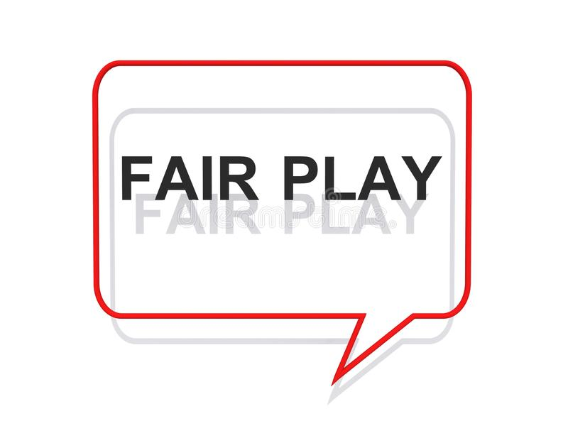 Fair play symbol stock illustration