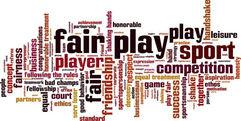 Fair play word cloud royalty free illustration