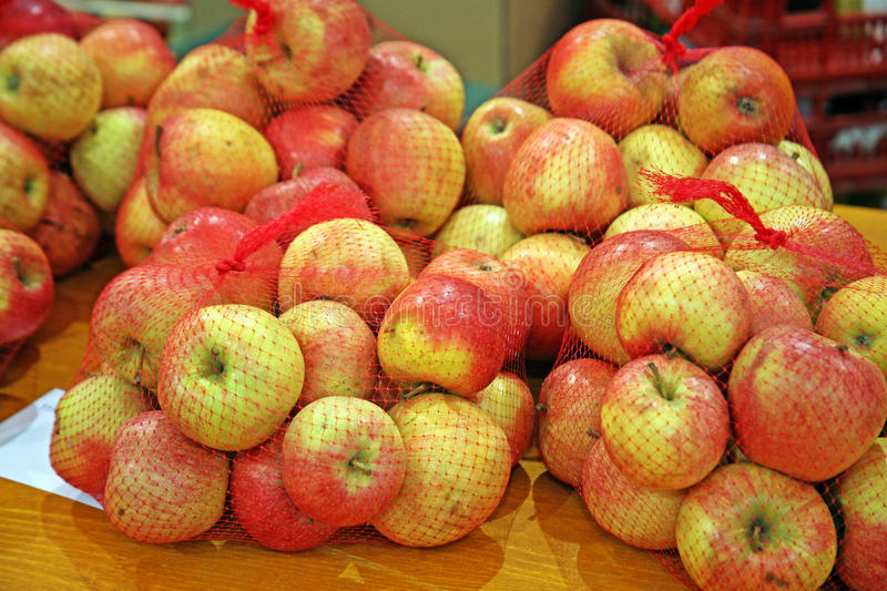 Fair 'Products of Croatian Village',apples,3,Zagreb,2016. royalty free stock images