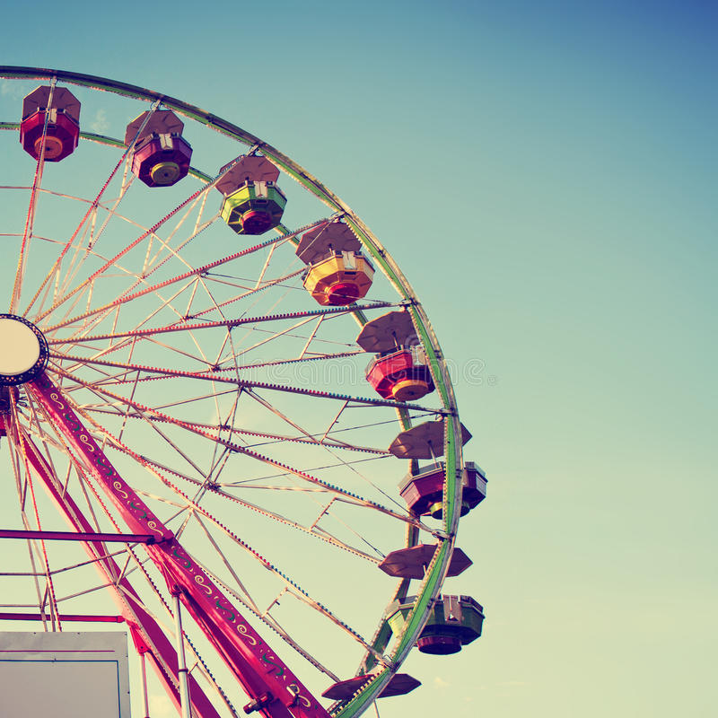 Free Fair Ride At Dusk Toned With A Retro Vintage Instagram Filter App Or Action Royalty Free Stock Image - 52773726