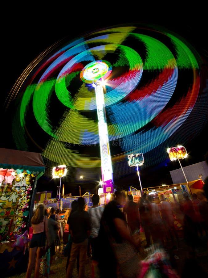 Fair ride at night stock image