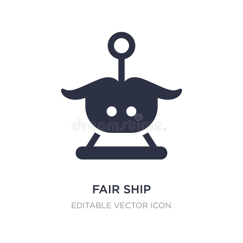 fair ship icon on white background. Simple element illustration from Entertainment concept vector illustration