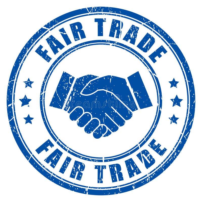 Fair trade ink vector imprint. Illustration royalty free illustration