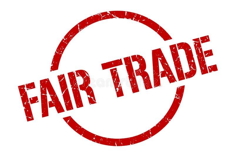 Fair trade stamp. Fair trade round grunge stamp. fair trade sign. fair trade vector illustration