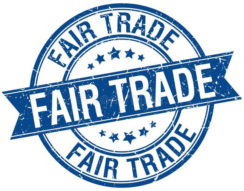 fair trade stamp royalty free illustration