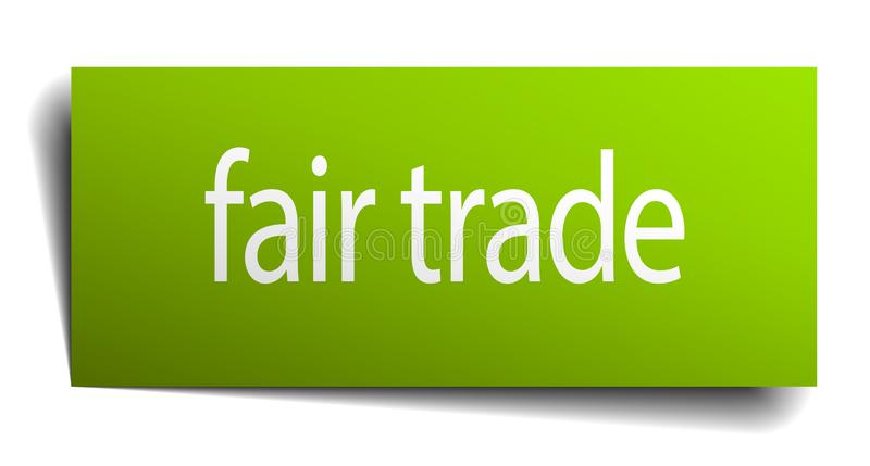 Fair trade sign. Fair trade square paper sign isolated on white background. fair trade button. fair trade vector illustration