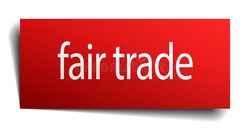 Fair trade sign. Fair trade square paper sign isolated on white background. fair trade button. fair trade royalty free illustration