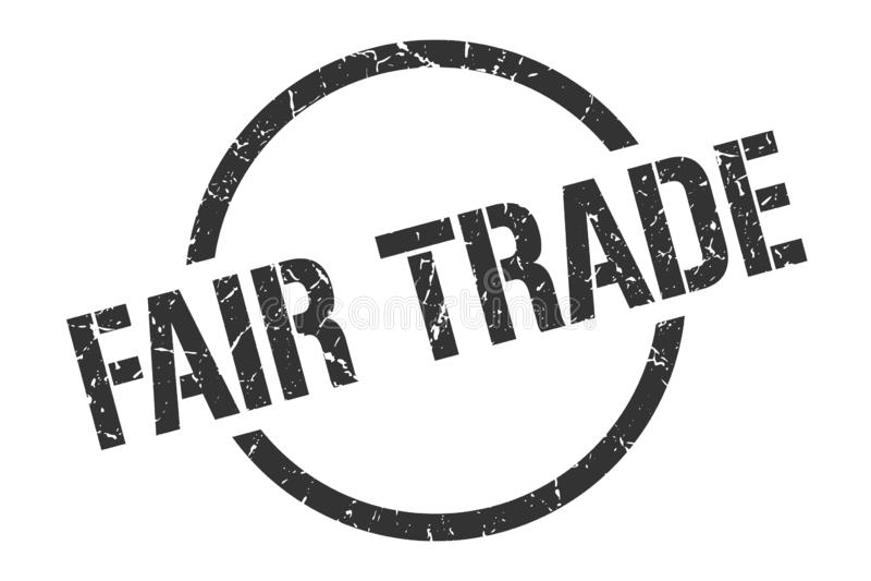 Fair trade stamp. Fair trade round grunge stamp. fair trade sign. fair trade royalty free illustration