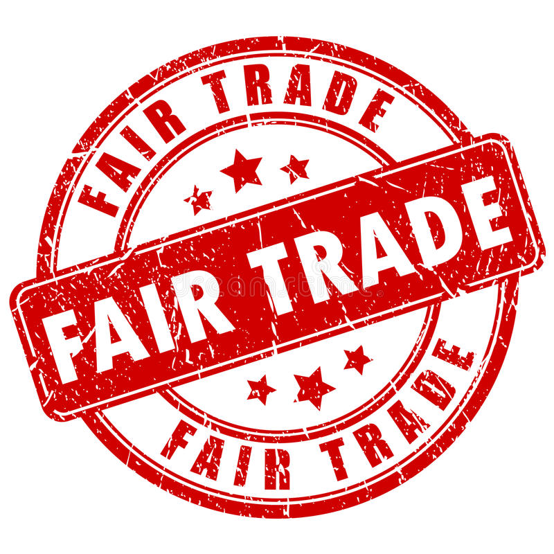 Fair trade stamp. Fair trade vector business stamp stock illustration