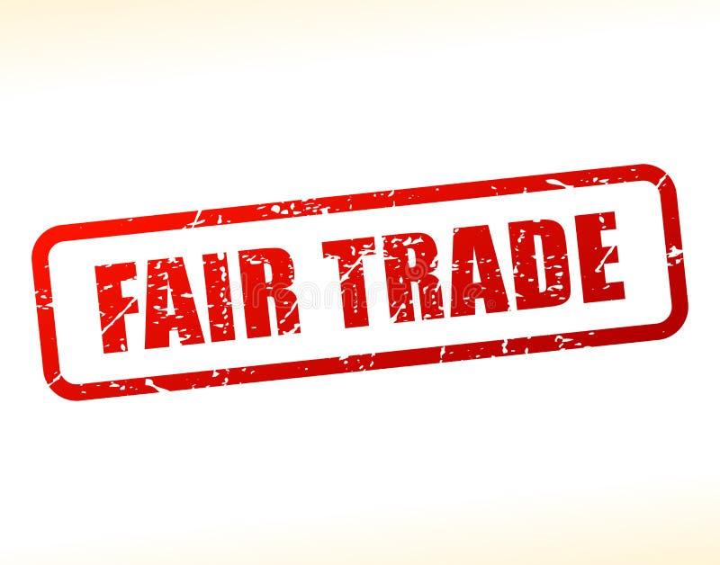 Fair trade text buffered vector illustration
