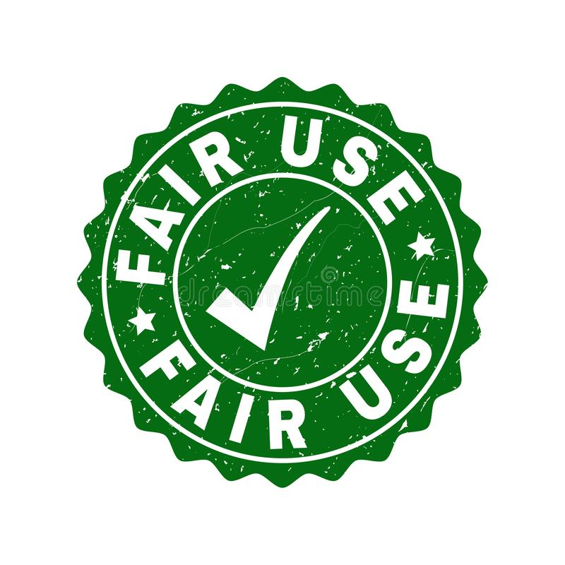 Fair Use Grunge Stamp with Tick vector illustration