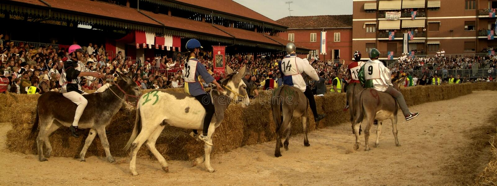 Download Fair And White Truffle Of Alba Donkey Race. Editorial Photography - Image: 27020072