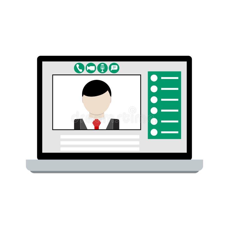 Faire appel visuel à l'ordinateur portable illustration libre de droits
