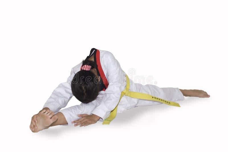 Faire de jeune fille martial images stock