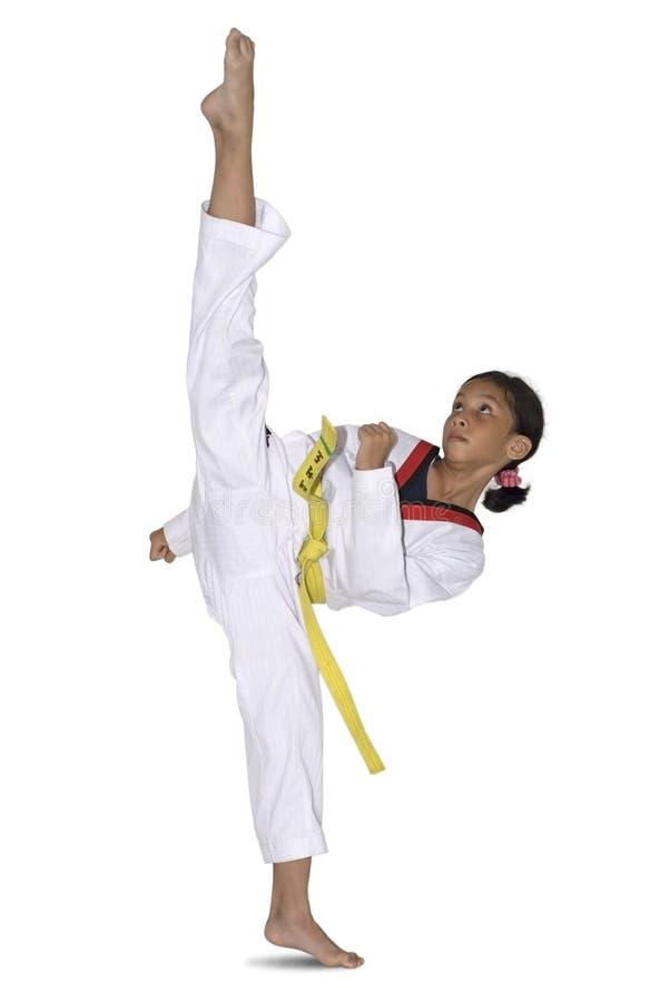 Faire de jeune fille martial photo libre de droits