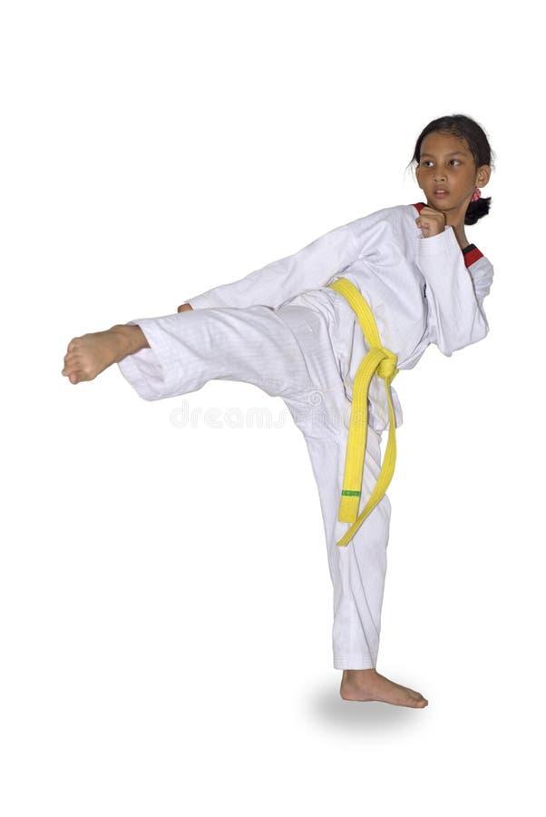 Faire de jeune fille martial photos stock