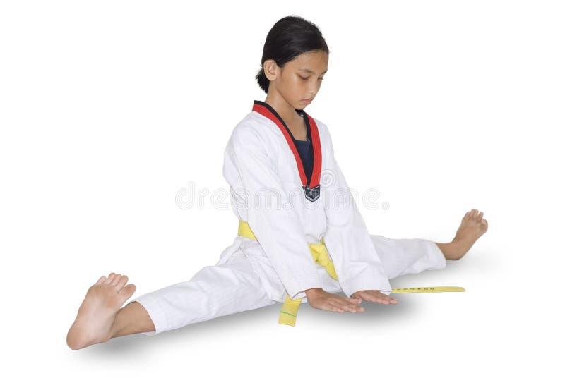 Faire de jeune fille martial photographie stock