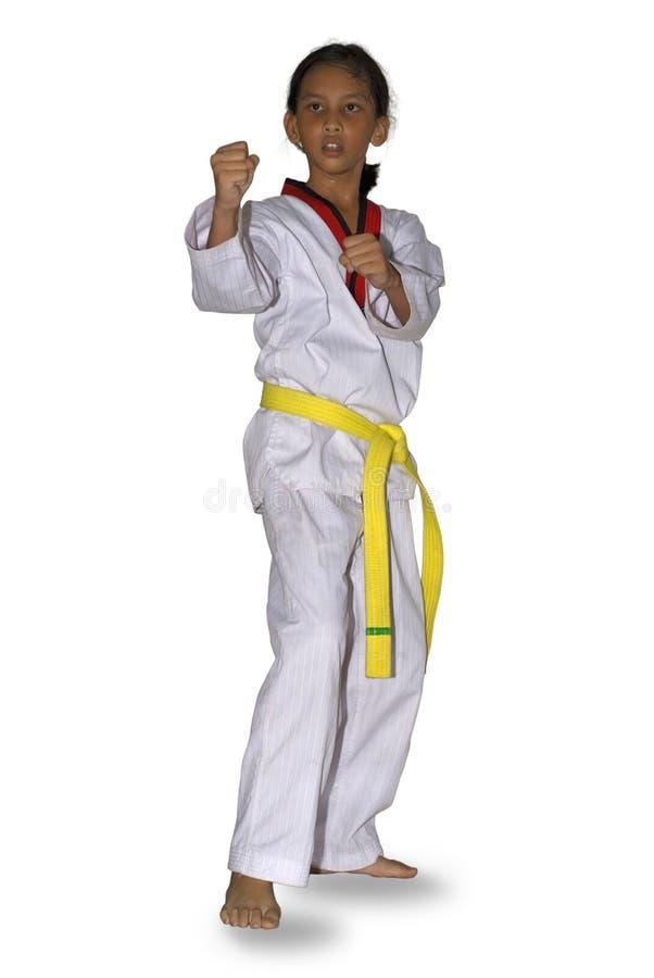 Faire de jeune fille martial image stock