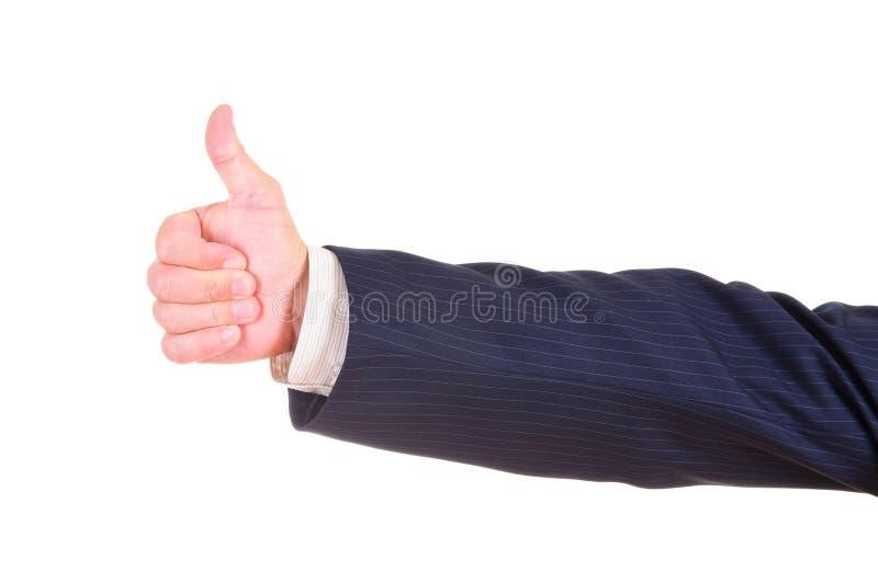 Faire de main pouces vers le haut image stock