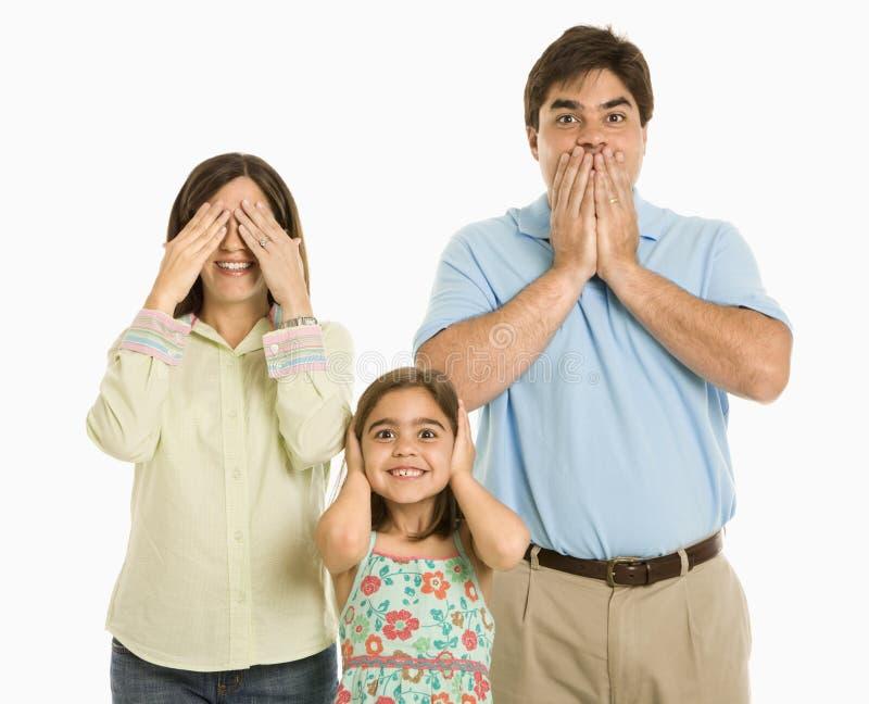 Faire des gestes de famille. image stock