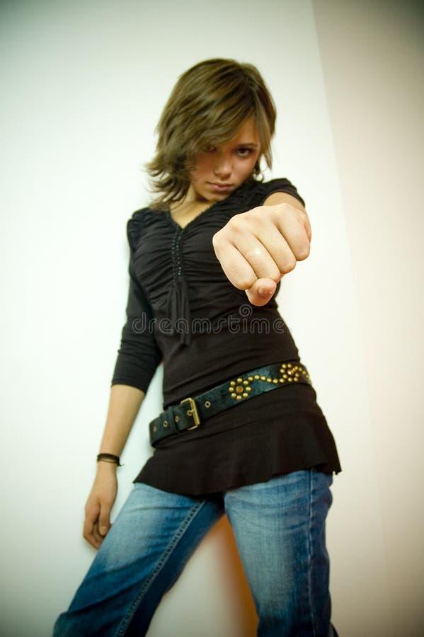 Faire des gestes de femme photos stock