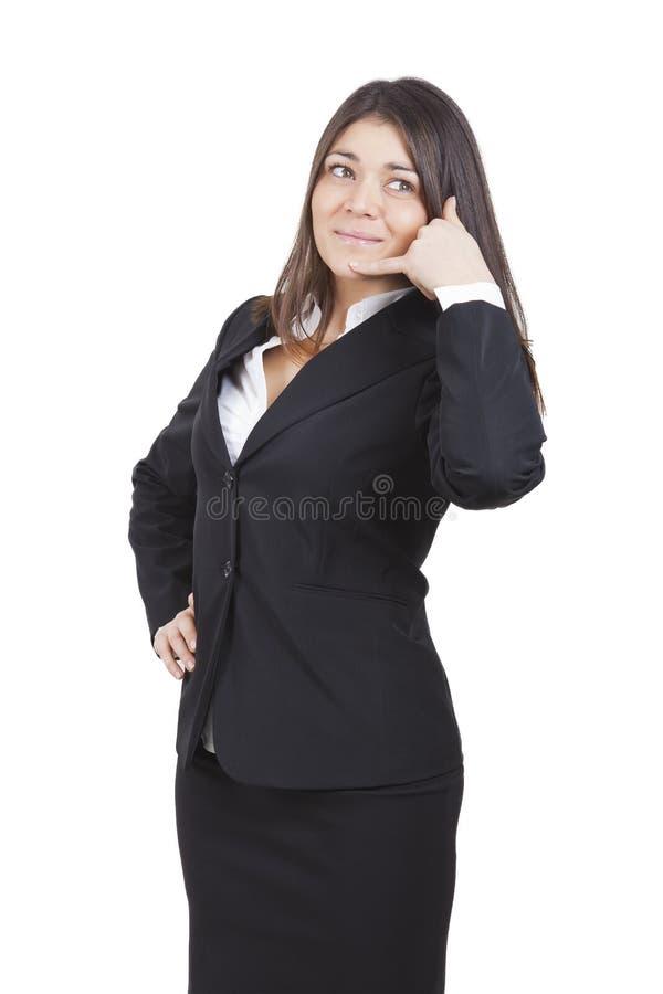 Faire des gestes de femme d'affaires photos libres de droits