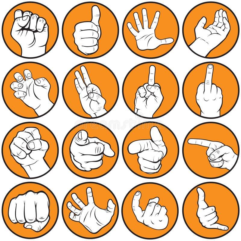 Faire des gestes de main illustration stock