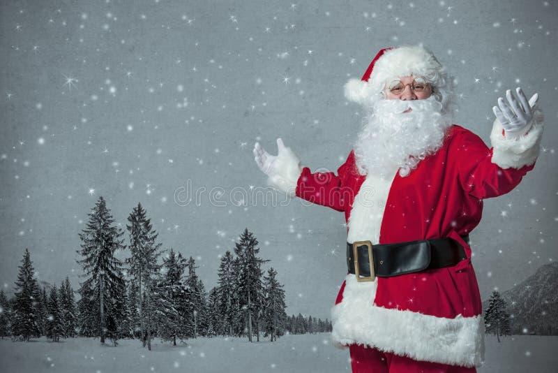 Faire des gestes de Santa Claus photo libre de droits