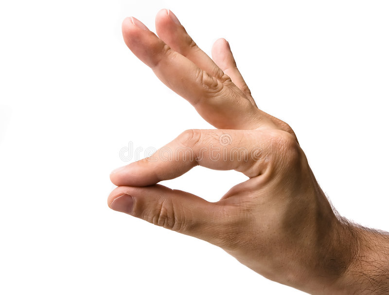 Faire des gestes mâle de main photos libres de droits